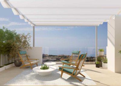 Apartamentos de 3 Dormitorios | Vistas Panorámicas desde la altura – Benalmádena-Ref:A1001b