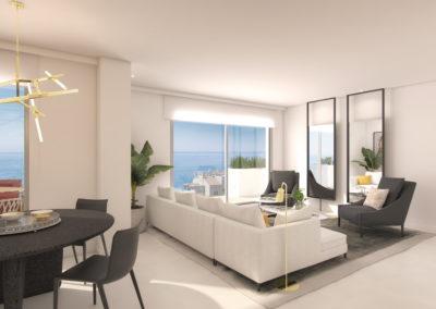 2 Slaapkamer Appartementen | Beneden, naast de zee – Benalmádena | Ref:A1005a